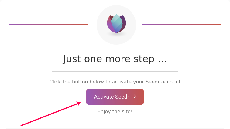 Activation email button