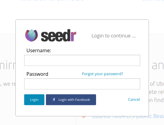 seedr login to extension