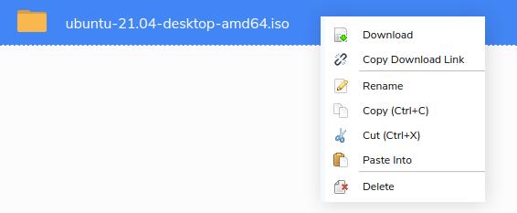 Seedr right click menu